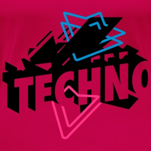 Techno Music Tops - Women's Premium T-Shirt