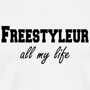 Freestyleur all my life  Kopper & flasker - Premium T-skjorte for menn