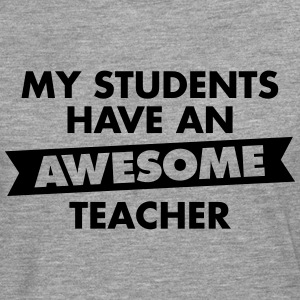 Awesome Teacher T-shirts - Herre premium T-shirt med lange ærmer