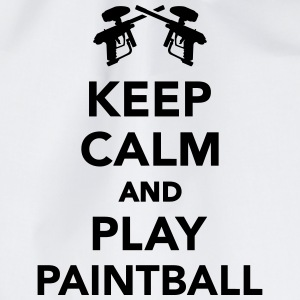 Keep calm and play Paintball T-Shirts - Turnbeutel