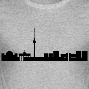Berliner Skyline Pullover & Hoodies - Männer Slim Fit T-Shirt
