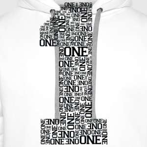 Number One (Typography) T-Shirts - Men's Premium Hoodie