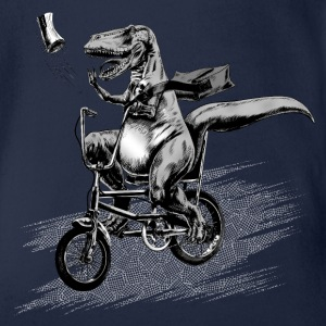 T Rex Paperboy Old school Shirts - Organic Short-sleeved Baby Bodysuit