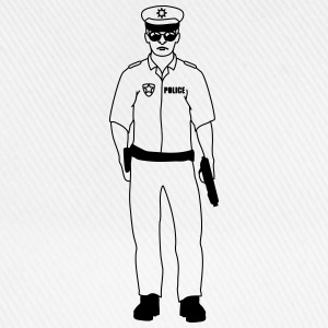 Cool police man guy T-Shirts - Baseball Cap