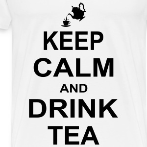 Keep Calm and Drink Tea Tops - Men's Premium T-Shirt