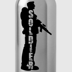 Soldier Soldat Held Design T-Shirts - Water Bottle