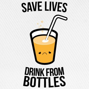 safe lifes drink from bottles, beer (c) T-Shirts - Baseball Cap