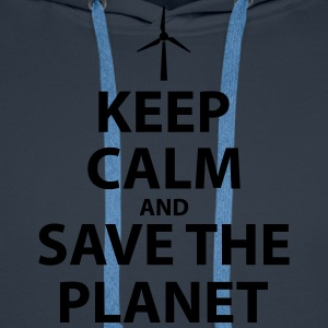Keep Calm and Save The Planet - Men's Premium Hoodie