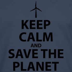 Keep Calm and Save The Planet - Men's Premium Longsleeve Shirt