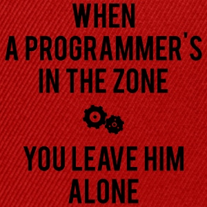 When A Programmer's In The Zone - Snapback Cap
