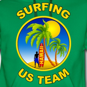 surfing us team Shirts - Men's Premium Hoodie