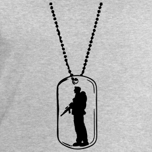 Dog tag soldier dog tag T-Shirts - Men's Sweatshirt by Stanley & Stella