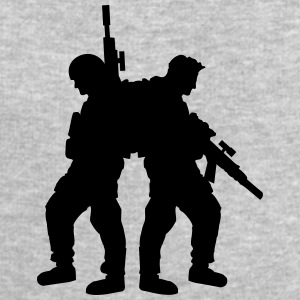 2 soldiers friends team crew T-Shirts - Men's Sweatshirt by Stanley & Stella