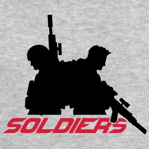 2 soldiers friends crew team T-Shirts - Men's Sweatshirt by Stanley & Stella