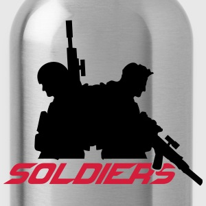 2 soldiers friends crew team T-Shirts - Water Bottle