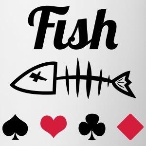 Poker : Fish T-shirts - Kop/krus