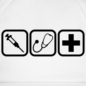 Syringe stethoscope Cross doctor logo T-Shirts - Baseball Cap