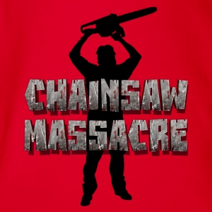 Chainsaw Massacre - Horreur /  tronçonneuse tueur  T-Shirts - Baby Bio-Kurzarm-Body