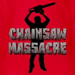 Chainsaw Massacre - ploetert / kettingzaag killer  Shirts - Baby bio-rompertje met korte mouwen
