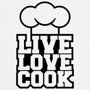 Live Love Cook Design T-Shirts - Cooking Apron
