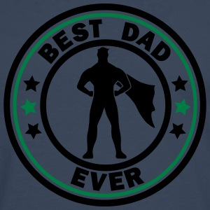 best dad ever superdad T-Shirts - Men's Premium Longsleeve Shirt
