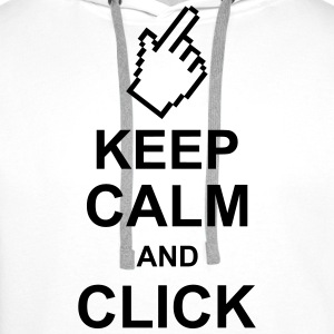 keep_calm_and_click_g1 Tee shirts - Sweat-shirt à capuche Premium pour hommes