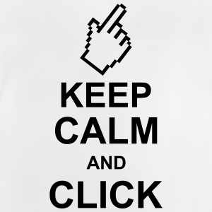 keep_calm_and_click_g1 Skjorter - Baby-T-skjorte