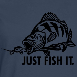 barsch_just_fish_it T-Shirts - Männer Premium Langarmshirt