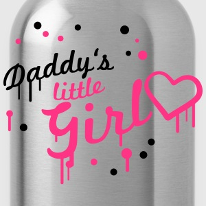 Cool Daddys little Girl Graffiti T-Shirts - Trinkflasche
