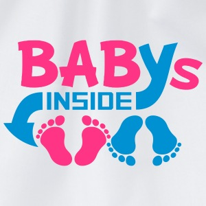 Babies inside twins two siblings T-Shirts - Drawstring Bag