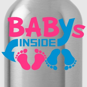 Babies inside twins two siblings T-Shirts - Water Bottle