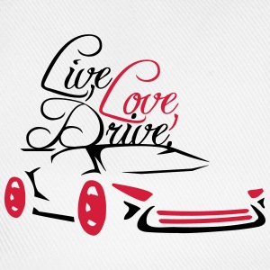 Live Love Drive Car Design T-Shirts - Baseball Cap