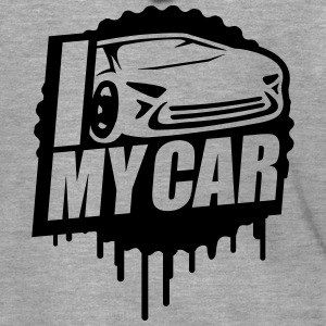 I Love My Car Cool Stamp T-Shirts - Men's Premium Hooded Jacket
