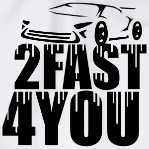 Cool 2 Fast 4 You Logo Graffiti Design T-Shirts - Turnbeutel