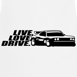 Live Love Drive Tuning Car T-Shirts - Cooking Apron