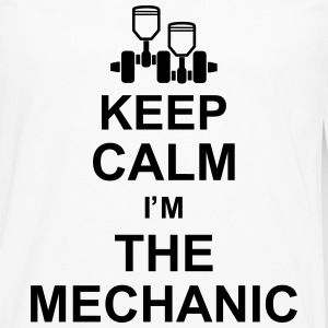 keep_calm_im_the_mechanic_g1 Camisetas - Camiseta de manga larga premium hombre