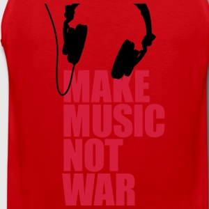 Make music not war (Kopfhörer) Pullover & Hoodies - Männer Premium Tank Top