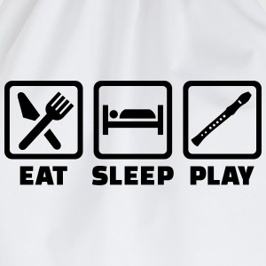 Eat sleep Flöte T-Shirts - Turnbeutel