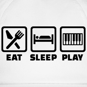 Eat sleep Klavier T-Shirts - Baseballkappe