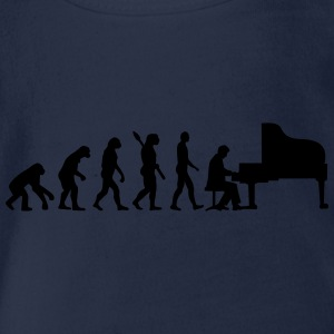 Evolution Klavier T-Shirts - Baby Bio-Kurzarm-Body