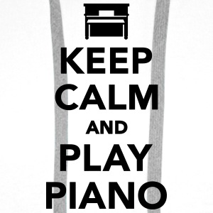 Keep calm and play Piano Flaschen & Tassen - Männer Premium Hoodie