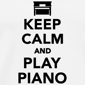 Keep calm and play Piano Flaschen & Tassen - Männer Premium T-Shirt