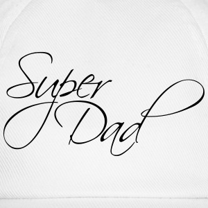 Cool Super pappa Text Logo T-shirts - Basebollkeps