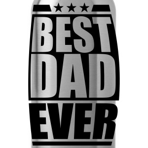 Best Dad Ever Cool Logo Design T-Shirts - Water Bottle