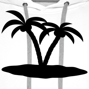 palm trees palmer Topper - Premium hettegenser for menn