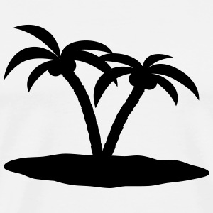palm trees palmer Topper - Premium T-skjorte for menn