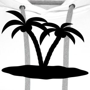 palm trees Shirts - Men's Premium Hoodie