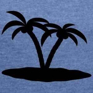 palm trees Bags & Backpacks - Women's T-shirt with rolled up sleeves