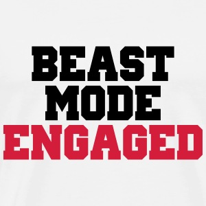 Beast Mode Engaged Gensere - Premium T-skjorte for menn
