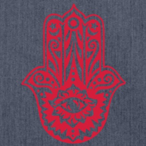 Hamsa Amulet, Hand of Fatima, Divine Protection T-Shirts - Shoulder Bag made from recycled material